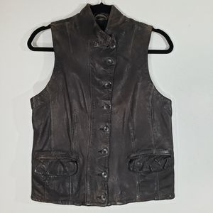 Vintage ALL SAINTS distressed U-Sprey biker vest